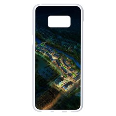 Commercial Street Night View Samsung Galaxy S8 Plus White Seamless Case