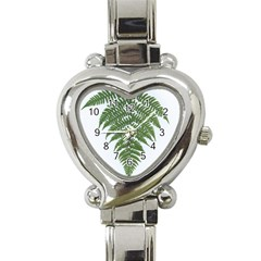 Boating Nature Green Autumn Heart Italian Charm Watch