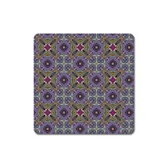 Vintage Abstract Unique Original Square Magnet