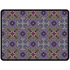 Vintage Abstract Unique Original Double Sided Fleece Blanket (large)  by BangZart