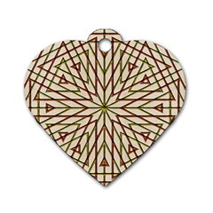 Kaleidoscope Online Triangle Dog Tag Heart (two Sides)