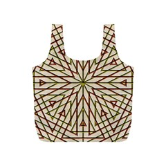 Kaleidoscope Online Triangle Full Print Recycle Bags (s)