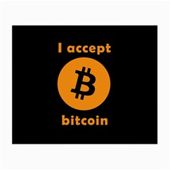 I Accept Bitcoin Small Glasses Cloth by Valentinaart