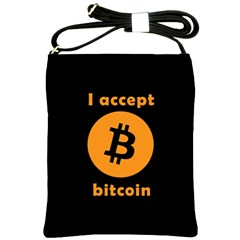 I Accept Bitcoin Shoulder Sling Bags by Valentinaart