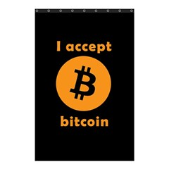I Accept Bitcoin Shower Curtain 48  X 72  (small)  by Valentinaart