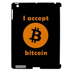 I Accept Bitcoin Apple Ipad 3/4 Hardshell Case (compatible With Smart Cover) by Valentinaart
