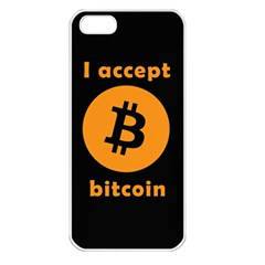 I Accept Bitcoin Apple Iphone 5 Seamless Case (white) by Valentinaart