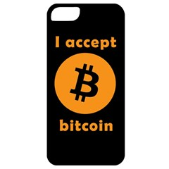 I Accept Bitcoin Apple Iphone 5 Classic Hardshell Case by Valentinaart
