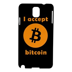 I Accept Bitcoin Samsung Galaxy Note 3 N9005 Hardshell Case by Valentinaart