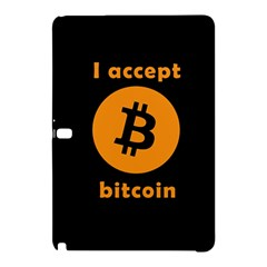 I Accept Bitcoin Samsung Galaxy Tab Pro 12 2 Hardshell Case by Valentinaart