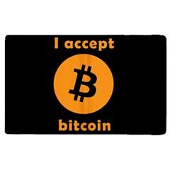 I Accept Bitcoin Apple Ipad Pro 9 7   Flip Case by Valentinaart