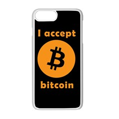 I Accept Bitcoin Apple Iphone 7 Plus Seamless Case (white) by Valentinaart