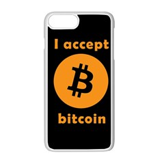 I Accept Bitcoin Apple Iphone 8 Plus Seamless Case (white) by Valentinaart