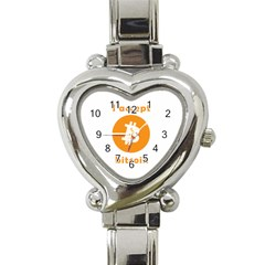 I Accept Bitcoin Heart Italian Charm Watch by Valentinaart