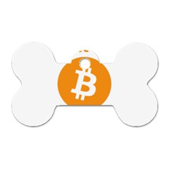 I Accept Bitcoin Dog Tag Bone (two Sides) by Valentinaart