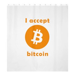 I Accept Bitcoin Shower Curtain 66  X 72  (large)  by Valentinaart