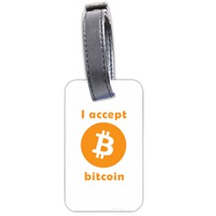 I Accept Bitcoin Luggage Tags (two Sides)