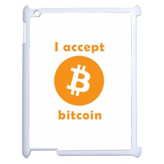 I Accept Bitcoin Apple Ipad 2 Case (white) by Valentinaart