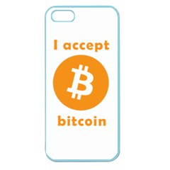 I Accept Bitcoin Apple Seamless Iphone 5 Case (color) by Valentinaart