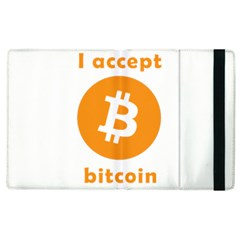 I Accept Bitcoin Apple Ipad 2 Flip Case by Valentinaart