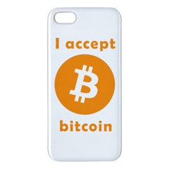 I Accept Bitcoin Iphone 5s/ Se Premium Hardshell Case by Valentinaart