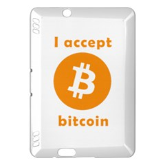 I Accept Bitcoin Kindle Fire Hdx Hardshell Case by Valentinaart