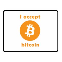 I Accept Bitcoin Double Sided Fleece Blanket (small)  by Valentinaart