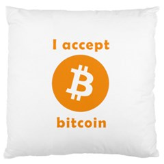 I Accept Bitcoin Standard Flano Cushion Case (two Sides) by Valentinaart