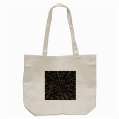 Black Abstract Structure Pattern Tote Bag (cream) by BangZart