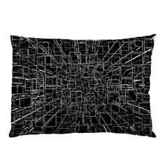 Black Abstract Structure Pattern Pillow Case