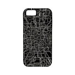 Black Abstract Structure Pattern Apple Iphone 5 Classic Hardshell Case (pc+silicone)