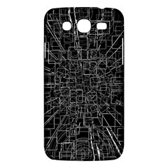 Black Abstract Structure Pattern Samsung Galaxy Mega 5 8 I9152 Hardshell Case  by BangZart
