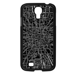 Black Abstract Structure Pattern Samsung Galaxy S4 I9500/ I9505 Case (black)