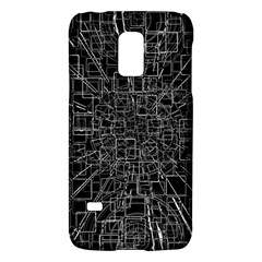 Black Abstract Structure Pattern Galaxy S5 Mini