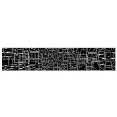 Black Abstract Structure Pattern Small Flano Scarf