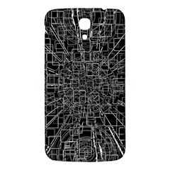 Black Abstract Structure Pattern Samsung Galaxy Mega I9200 Hardshell Back Case