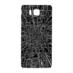 Black Abstract Structure Pattern Samsung Galaxy Alpha Hardshell Back Case