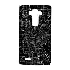 Black Abstract Structure Pattern Lg G4 Hardshell Case