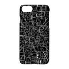 Black Abstract Structure Pattern Apple Iphone 7 Hardshell Case