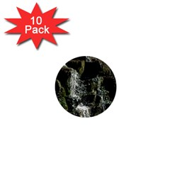 Water Waterfall Nature Splash Flow 1  Mini Buttons (10 Pack)