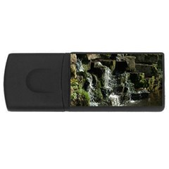 Water Waterfall Nature Splash Flow Rectangular Usb Flash Drive