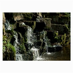 Water Waterfall Nature Splash Flow Large Glasses Cloth