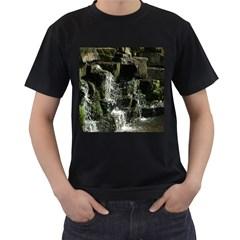 Water Waterfall Nature Splash Flow Men s T Shirt (black) by BangZart