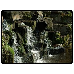 Water Waterfall Nature Splash Flow Fleece Blanket (large)  by BangZart