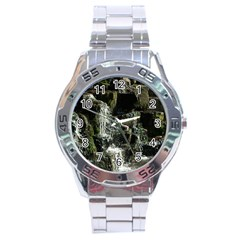 Water Waterfall Nature Splash Flow Stainless Steel Analogue Watch by BangZart