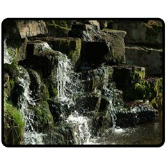 Water Waterfall Nature Splash Flow Double Sided Fleece Blanket (medium)  by BangZart