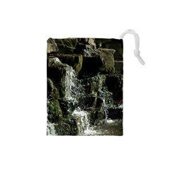 Water Waterfall Nature Splash Flow Drawstring Pouches (small)  by BangZart