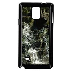 Water Waterfall Nature Splash Flow Samsung Galaxy Note 4 Case (black)
