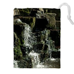 Water Waterfall Nature Splash Flow Drawstring Pouches (xxl) by BangZart