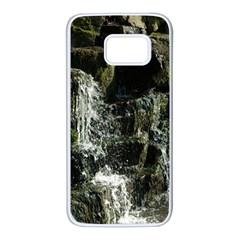 Water Waterfall Nature Splash Flow Samsung Galaxy S7 White Seamless Case